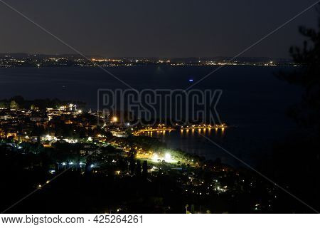 View Of The Lakefront Of Bardolino At Night