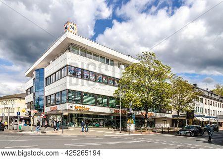 Wetzlar, Germany 23.05.2021: Mueller Storefront Facade In Wetzlar; Germany. Muller Ltd. & Co. Kg Is