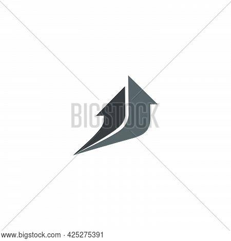 Motion Movement Arrows Geometric Logo Vector Unique Unusual Brand Identity Product