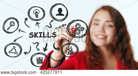 Business, Technology, Internet And Network Concept. Skill Knowledge Ability.