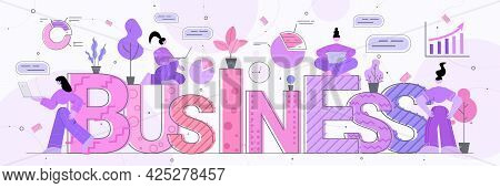 Businesspeople Team Working Together Business Success Teamwork Concept Horizontal