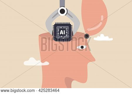 Ai, Artificial Intelligence To Think Like Human, Machine Learning Technology To Calculate And Solve