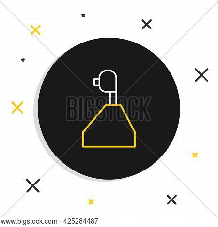 Line Gear Shifter Icon Isolated On White Background. Transmission Icon. Colorful Outline Concept. Ve