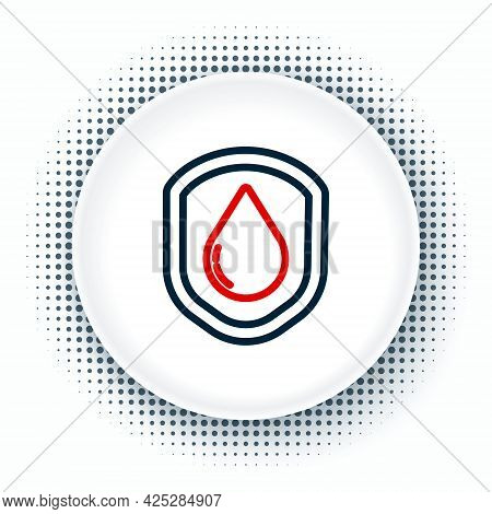 Line Waterproof Icon Isolated On White Background. Water Resistant Or Liquid Protection Concept. Col