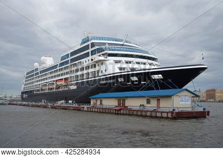 St. Petersburg, Russia - June 18, 2016: The Five-star Cruise Liner