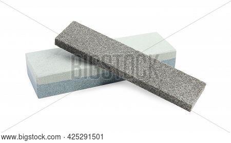 Sharpening Stones For Knife On White Background