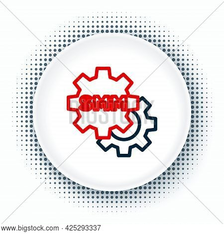 Line Smm Icon Isolated On White Background. Social Media Marketing, Analysis, Advertising Strategy D
