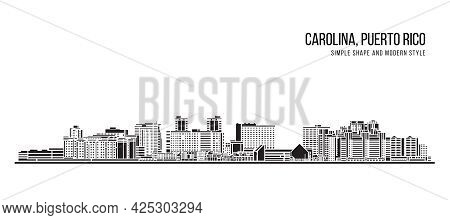 Cityscape Building Abstract Simple Shape And Modern Style Art Vector Design -  Carolina, Puerto Rico