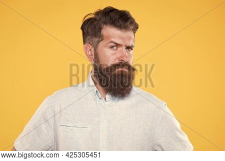 Looking So Stylish. Brutal Caucasian Hipster With Moustache. Confident And Handsome Brutal Man. Char