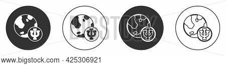 Black Psychology Icon Isolated On White Background. Psi Symbol. Mental Health Concept, Psychoanalysi