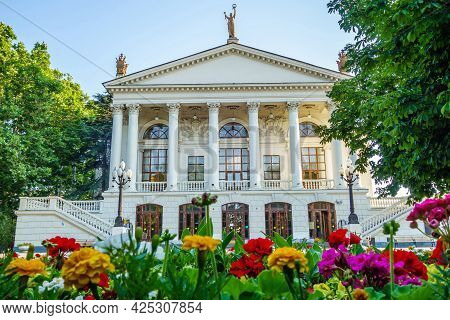 Drama Theater Named After Lunacharsky, Sevastopol, Crimea. Building Built In The Classical Style. Sh