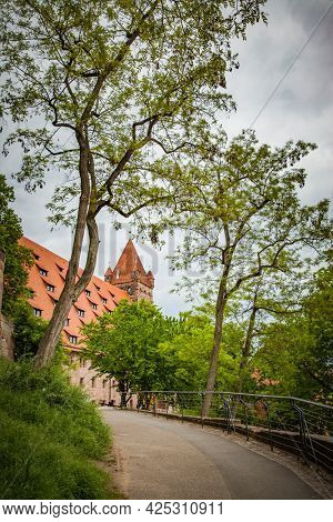 Scenic view of Nuremberg in Germany. Landscape