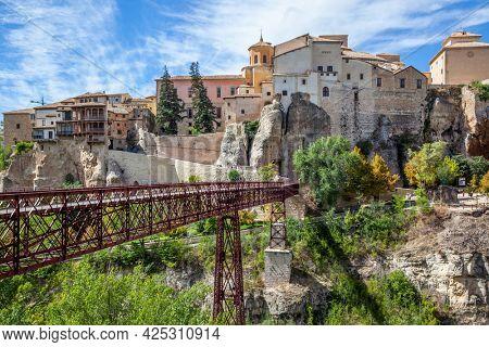 Bridge the Old town of Cuenca,  Spain. Landscape