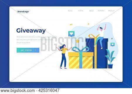 Giveaway Illustration Landing Page