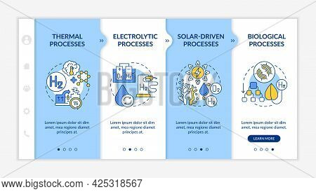Generating Hydrogen Gas Onboarding Vector Template. Responsive Mobile Website With Icons. Web Page W
