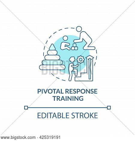 Pivotal Response Training Concept Icon. Autistic Behavior Correction Abstract Idea Thin Line Illustr
