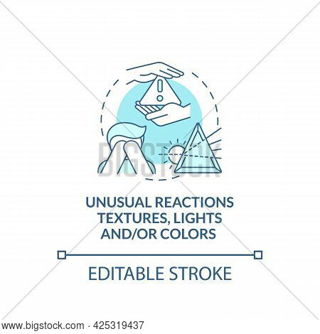 Sensory Issues In Autism Concept Icon. Autism Symptom Abstract Idea Thin Line Illustration. Eating O