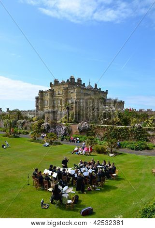 Brass band at Culzean Castle, Ayrshire
