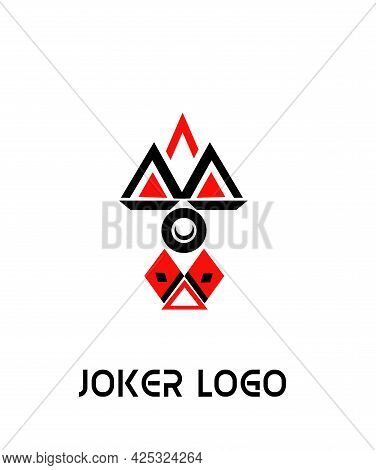 The Illustration - Logo In Minimalistic Style With Joker.