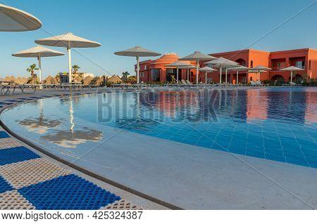 Sharm El Sheikh, Egypt - June 2, 2021: View From A Pool Of Hotel Albatros Laguna Vista Resort In Sha