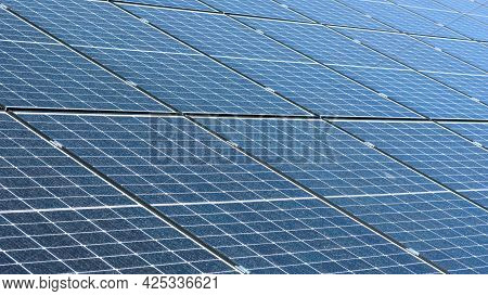 Green Energy Background Made Of Solar Panels