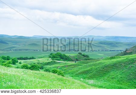 Mountains And Plains In Summer.mountains And Plains In Summer