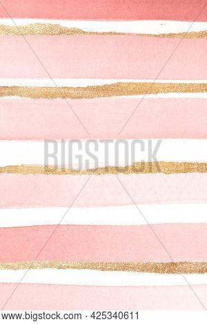 Shimmering pink watercolor brush stroke background