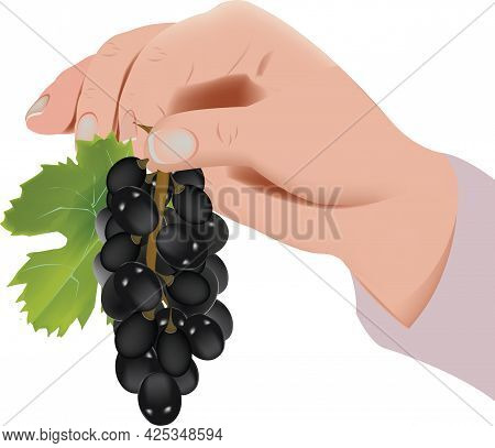 Hand Lifting A Bunch Of A Black One