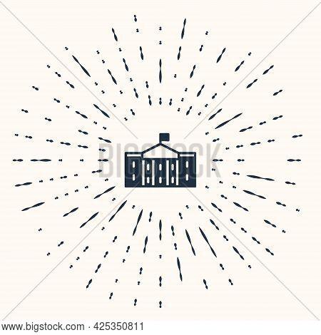 Grey United States Capitol Congress Icon Isolated On Beige Background. Washington Dc, Usa. Abstract