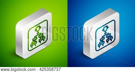 Isometric Line Results And Standing Tables Scoreboard Championship Tournament Bracket Icon Isolated