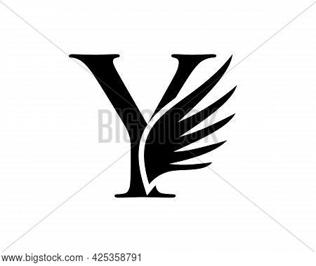 Wing Logo With Y Letter Concept. Y Letter Logo With Wing