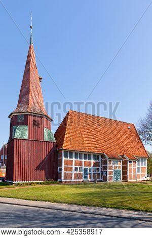 17th century Lutheran St Marien church at Grünendeich, Altes Land region, Germany