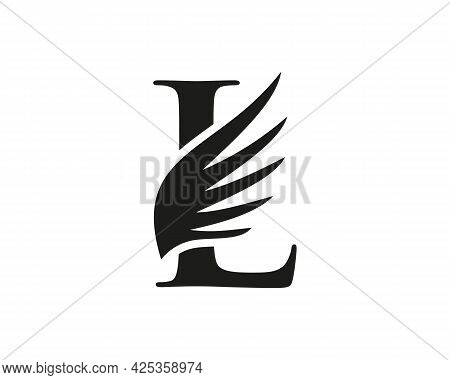 Wing Logo With L Letter Concept. L Letter Logo With Wing