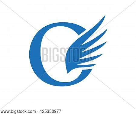 Wing Logo With O Letter Concept. O Letter Logo With Wing