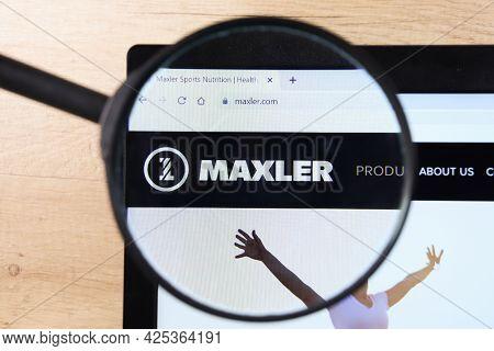 Richmond, Virginia, Usa - 7 January 2021: Editorial Of Maxler Website Homepage. Maxler Logo Visible