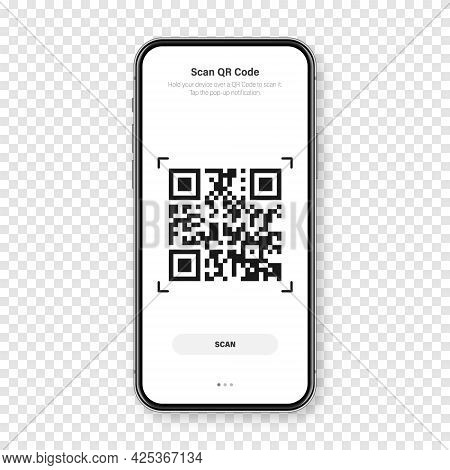 Qr Code Scanner, Reader App For Smartphone. Identification Tracking Code. Serial Number, Product Id