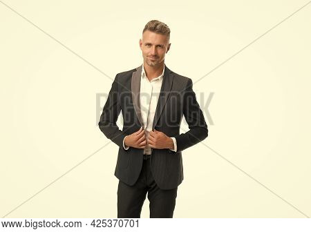 Black Is Optional For Wedding Attire. Man Wear Classy Suit. Wedding Reception Outfit