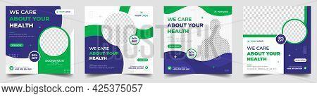 Medical Social Media Post Template, Healthcare Social Media Banner Template, Healthcare Post Social