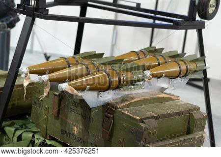 Bombs For An Attack Uav. Air Bombs For An Attack Unmanned Aerial Vehicle At The International Exhibi