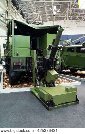 Automatic Mortar. Automatic, Large-caliber Mobile-based Mortar At The International Exhibition Arms