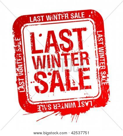Last winter sale red stamp.