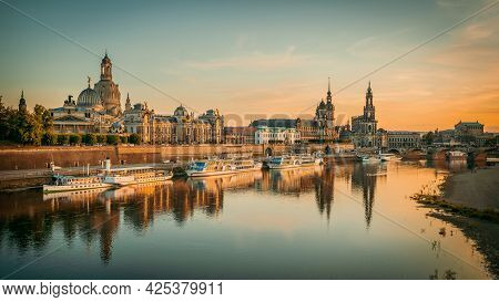 Panoramic View At The Old Town Of Dresden