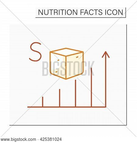 Sugar Content Color Icon. Energy Value. High Level Sugar. Nutrition Facts. Nutrient Supplements. Nut