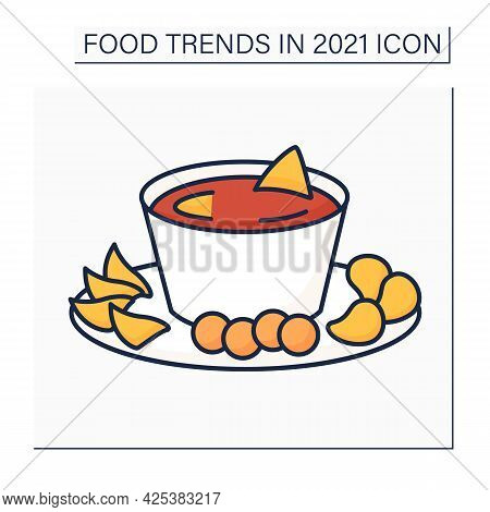Beer Cheese Color Icon. Party Food. Snack. Spreadable Cheese, Flavored With Beer And .fast Food. Foo