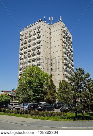 Alba Iulia, Alba, Romania -  May 11, 2021: View Of  Hotel Continental Located In Central Zone In  Al