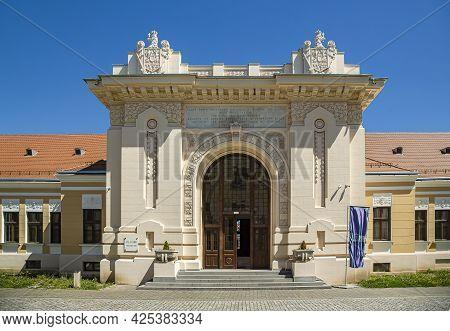 Alba Iulia, Alba, Romania -  May 11, 2021: The Union Hall în Albă Iulia, The Place Where The Union O