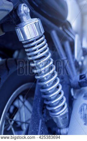 Retro Motorcycle Rear Wheel Shock Absorber And Wheel