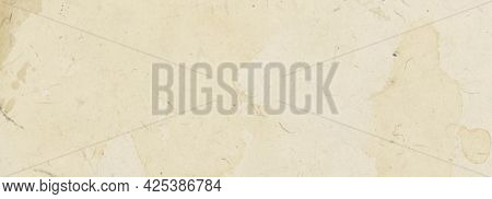Vintage Banner Background With Old Beige Paper Texture With Spots