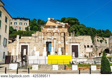 Temple Of The Capitoline Triad In Brescia, Italy