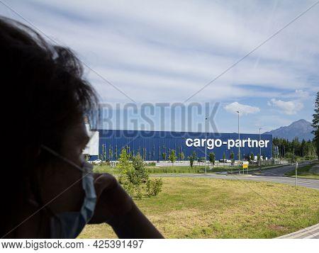 Ljubljana, Slovenia - June 12, 2021: Cargo Partner Logo On Their Logistics Center In Ljubljana With